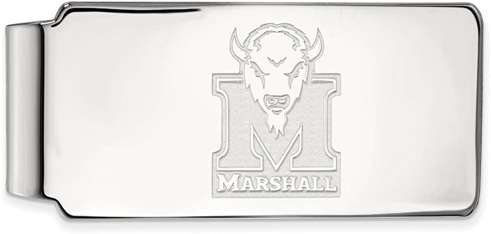 Solid Manufacturer OFFicial shop 10k White Gold half Official University Slim Marshall Business