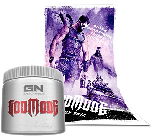 Special Edition GN Laboratories - GODMODE 2020 - Pre-Workout Hardcore Booster Trainingsbooster Bodybuilding 350g (Blueberry - Heidelbeere) inkl. Poster After Beastmode comes Godmode