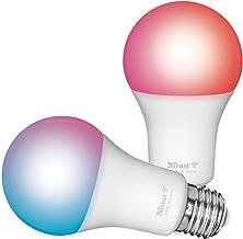 Trust Smart Home Smart WiFi LED Bulb E27 White & Colour, Led Light Bulb Compatible with Alexa, 2 Pack