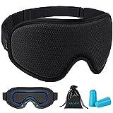 WAOAW Sleep Mask for Women Men , Eye Mask Sleeping of 3D Light Blocking Blindfold(Black)
