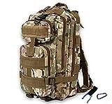 Zhicaikeji Deportes al Aire Libre Mochila de Camuflaje Aficionado del ejército Senderismo Bolsa de Trekking Hombro Mochila táctica 3P (Size : M)