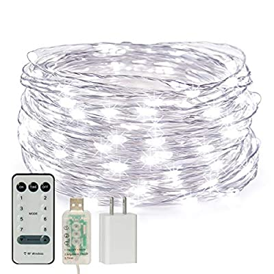 CREATIVE DESIGN Fairy Lights, 100 LED 33ft Stri...
