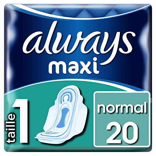 Always Maxi (Tamaño 1) Alas Sanitarias 160 g