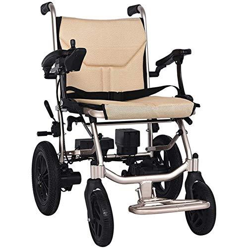 AIRPUMP Elektrischer Rollstuhl Klappbar, 360 ° Joystick Lithiumbatterie Elektro Mobilitätshilfe Elektrorollstuhl Faltbar, Tragbare Ältere Behinderte Hilfe Auto, Kann 150Kg Unterstützen
