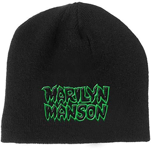Marilyn Manson Beanie Hat Band Logo Say10 Official Black