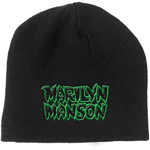 Marilyn Manson Beanie Hat Band Logo Say10 Official Black