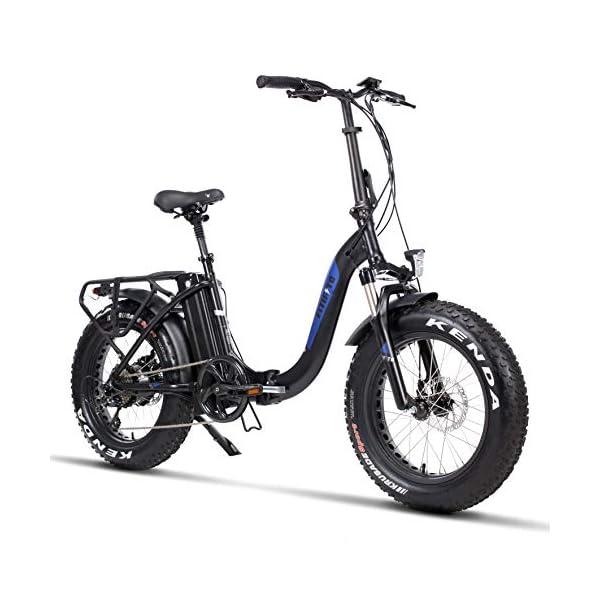 51X+rgh4GuL. SS600  - Fitifito klappbar Fatbike FT20 20 Zoll Elektrofahrrad Fatbike E Bike Pedelec 48V 250W Bafang casstte Heckmotor 9 Gang Shimano Schaltung