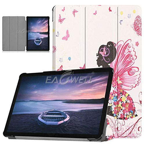 RZL PAD & TAB cases For Samsung Galaxy Tab S4 10.5 inch T830 T835, Tri-Fold Auto Sleep Wake Smart Cover Printed PU Leather Flip Stand Cover For Samsung Galaxy Tab S4 10.5 inch (Color : Elf girl)