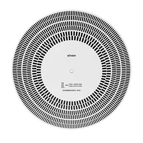 DollaTek LP Schallplatte Plattenspieler Phono Tachometer Kalibrierung Strobe Disc Stroboskop Matte 33,3 45 78 U/min