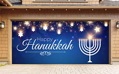 Victory Corps Hanukkah Menorah - Holiday Garage Door Banner Mural Sign Décor 7'x 16' Car Garage - The Original Holiday Garage Door Banner Decor