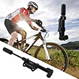 WUYUESUN Inflador de neumáticos súper Ligero Multifuncional Mini Bicicleta Portátil Bomba de Aire de la Bicicleta for el Ciclismo de la montaña