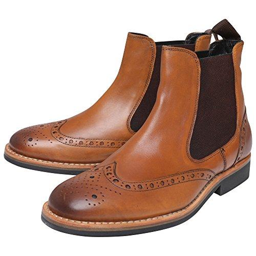 Fenside Country Clothing - Botas de Piel para Hombre Marrón Canela, Color Marrón, Talla 47