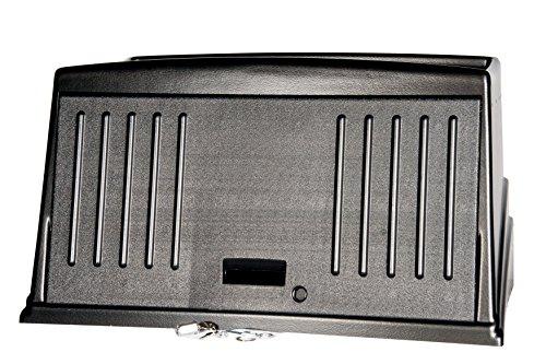 Rubbermaid Commercial Products 9T00 - Cubierta protectora de seguridad para carro de limpieza compacto, negro