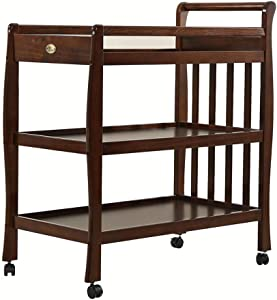 Baby Diaper Changing Table- 790 540 855mm Changing Table Unit Station Noble Walnut Color  Touch Massage Crib Diaper Table