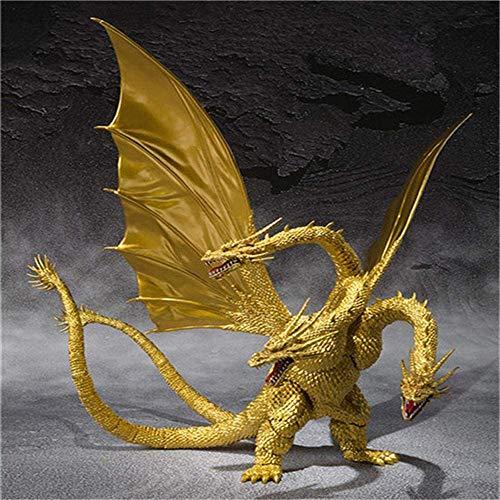 lyf Bewegliche Puppe des Animationsmodells, Godzilla King Gidora Dreiköpfiger Drache Special Edition Animationscharakter der ersten Generation Kinderspielzeugdekoration