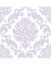 Wall Pops NU1396 Purple Ariel Peel and Stick Wallpaper