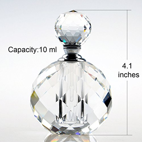YUFENG 10ml Clear Vintage Crystal Empty Decor Mini Refillable Perfume Bottle