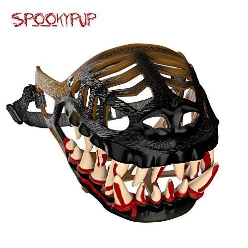 SpookyPup Komisch Hund Kostüm Maulkorb mit Großen Scary Zähne–Get Your Hund zu Join The Fun, Large, Braun