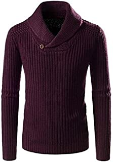 Men's Pullover, V-Neck Thick Winter Fashion Soft Knit Sweater Warm Slim Long Sleeve Top,c,XXL