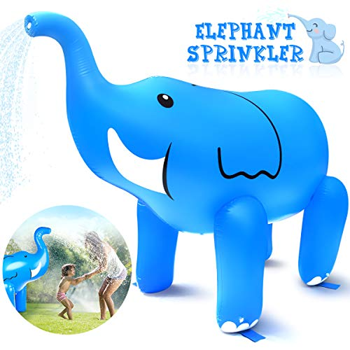 Dillitop Elephant Sprinkler, Inflatable Elephant Water Toys Outdoor Inflatable Ginormous Elephant...