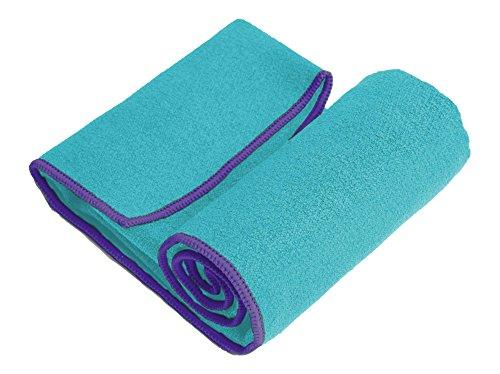 YogaRat Toalla de Yoga: 100% Microfibra de Agarre, Fina, Ligera,...
