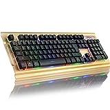 Zjcpow Colorful Tastiera retroilluminata Professionale Gaming Keyboard Ci USB Wired Gaming Keyboard casa/Ufficio/Gioco di Topo (Colore: Tastiera Metal) (Colore: Tastiera Metal) xuwuhz