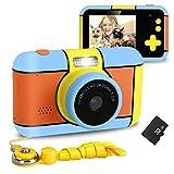 XDDIAS Cámara de Fotos para Niños, Infantil Cámara Digital con 32GB Tarjeta de Memoria y Pantalla de 2.4 Pulgadas, Videocámaras Juguetes para Niñas Cumpleaños Regalo (Naranja)