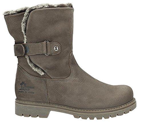 Panama Jack Damen Winterstiefel Felia Igloo,Frauen Winter-Boots,Fellboots,Lammfellstiefel,Fellstiefel,gefüttert,warm,Khaki,EU 41