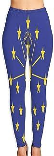 Cyloten Indiana Printable Flag Yoga Pants Vivid Printed Women's Non-Fading Sportswear High Elastic Leggings