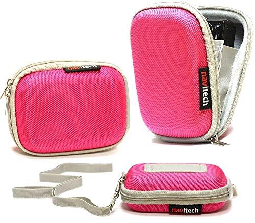 Navitech Rosa Wasser Wiederständige Harte Digital Kamera Tasche für das Sony AS200V Action Cam/Sony Cyber-Shot RX100 IV/Panasonic HX-A1