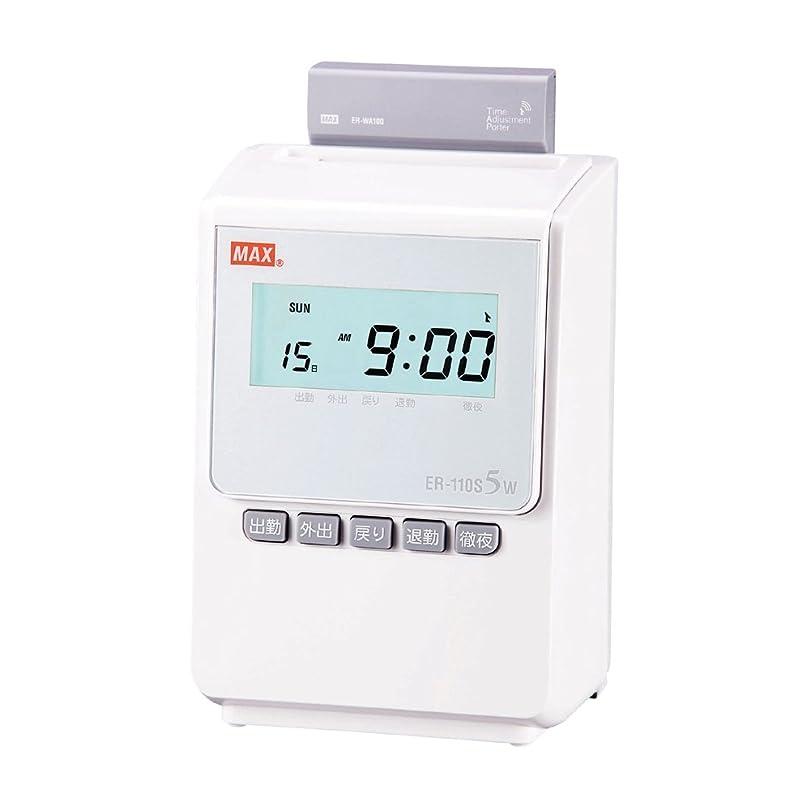 ふざけた注意ゴールデンマックス タイムレコーダー 1日4回印字 簡易月間集計機能付き 電波時計搭載 ER-110S5W