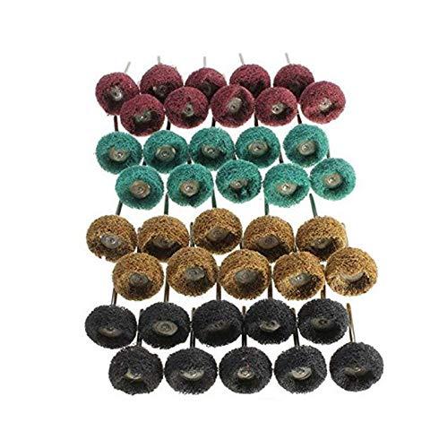 SNOWINSPRING 1 Zoll (25 Mm) Mix Grit Schleif Polier Scheiben Grat für Proxxon Rotary Werkzeug 1/8 Zoll (3 Mm) Schaft Packung mit 48 StüCke