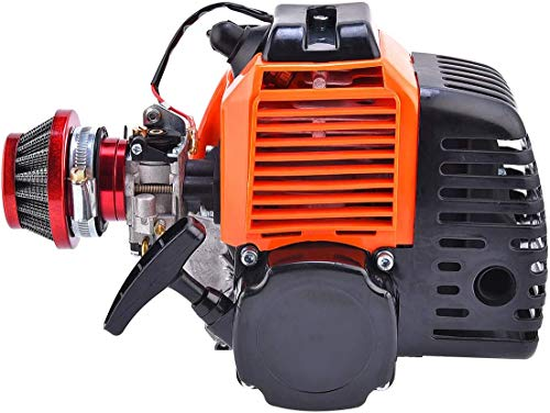 Paxpax 49cc 2 Stroke Gas Scooter Engine with Racing Air Filter for ScooterX EVO Pep Boys Zoom Bicycle Motorized DIY