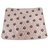 Hund Pee Pad - Hundetraining Pads, Hundebett Urin Matte, Wiederverwendbare wasserdichte Pee Pad for Welpen Hund Katze (Größe : Brown-L)
