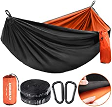 Overmont Double Layers Camping Hammock for Two German TUV Certificated Portable Outdoor Hammock Lightweight for Backpacking Hiking Sports Travel with Tree Straps Max Load of 880lbs