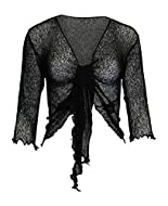 Open Front Lace Cardigan Tie up Bali Shrug Apprx. Back Length 47cm 70% Acrylic 30% Polyamide Ideal For Holidays, Festivals, Beach Wear or Evening Wear