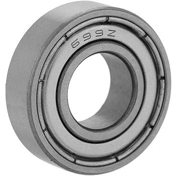 8 x 19 x 6 mm Rodamiento de Bolas de Metal blindado DIY Mechanicals 698ZZ 2