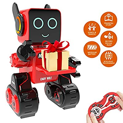 PRANITE-US RC Robot Toy, Interactive and Programmable Toy Robot with Built-in Coin Bank, Smart Educational Robot Sound and Touch Control Speaking Singing Dancing, Wireless Intelligent Toys for Kids from PRANITE-US