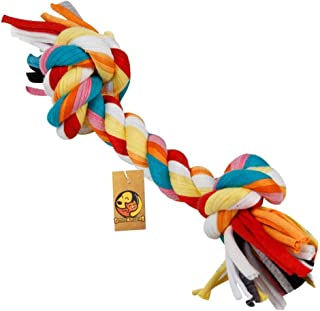 Foodie Puppies Durable Dog Chew Rope Toy for Small to Medium Dogs - Interactive Teething Rope Toy to Play with (Color May ...