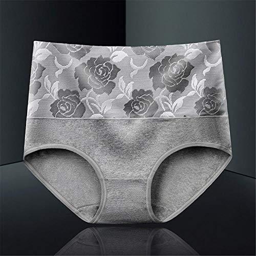 LTHH Damen-Baumwoll-Slimming-Unterwäsche mit großem Taillenprint, grau_XL