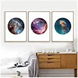 Xiongda Canvas Painting Modern Astronomy Galaxy Canvas Art Print and Poster Home Wall Decor, Set Of Three Galaxy Space Wall Art Picture-20X28 Inch 3Pcs Sin marco