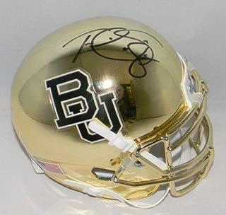 Terrance Williams Signed Autographed Baylor Bears Gold Chrome Mini Helmet Coa - Autographed College Mini Helmets