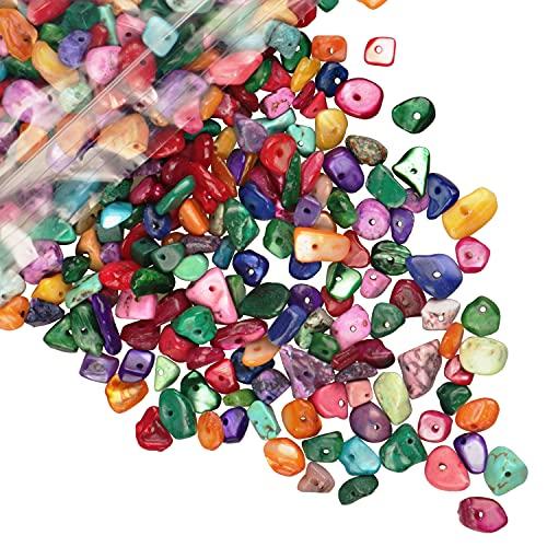 Cuentas de piedra de viruta natural multicolor 5-8 mm Aproximadamente 400 piezas Piedras...