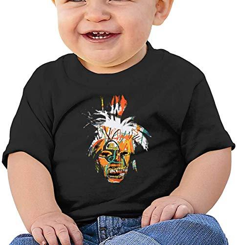 Whgdeftysd Jean Michel Basquiat - Camiseta de manga corta para bebé, color negro