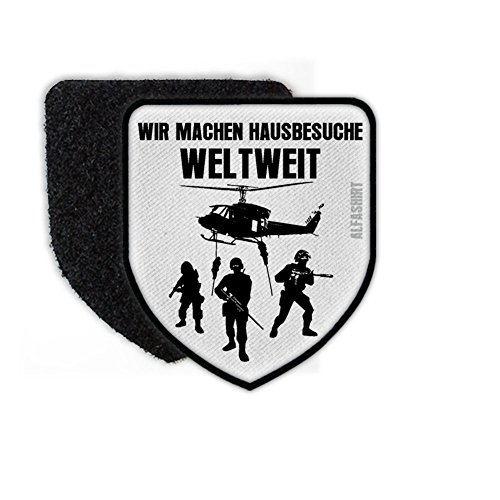 Home Visits Worldwide Airsoft Special Unit Anti Terror GSG9 KSK Military Helicopter Police - Patch/Patches