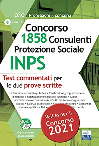 Concorso INPS 1858 consulenti protezione sociale. Test