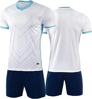 Rugby clothing boutique Q, Fútbol conjunto Jersey Boys', Entrenamiento Competición Equipo de Niños deportiva-de manga corta camisetas, pantalones cortos y calcetines Uniformes de fútbol ( Color : A-1 , Size : 3XL )