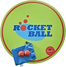 SeaTurtle Sports Rocketball Ball Slam Game Set - Includes Reversible Wooden Target Board, Custom Carry Case, 2 Balls & Rules