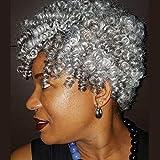 PHOCAS HairPhocas 5 Packs Synthetic Saniya Curly Crochet Hair 10 inch 20roots/pack for Crochet Braids Hair(Gray)