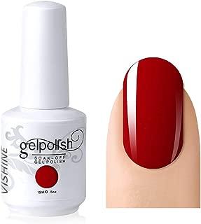 Vishine Gelpolish Lacquer Shiny Color Soak Off UV LED Gel Nail Polish Professional Manicure Bright Red(1535)